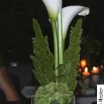 Tischdekoration mit Callas