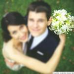 Brautstrauss in grün und weiss