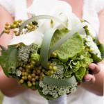Brautstrauss mal anders in grün und weiss