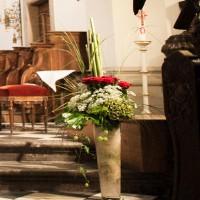 Nahaufnahme: Kirchendekoration