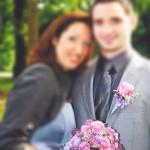 Brautstrauss und Anstecker in rosa