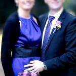 Brautstrauss und Anstecker in malve