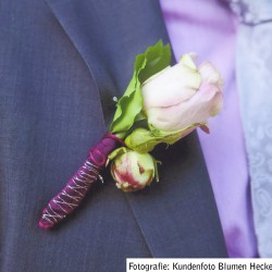 Anstecker für den Bräutigam passend zum Brautstrauss